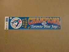 MLB Blue Jays Rare 1993 World Champions Bumper Sticker
