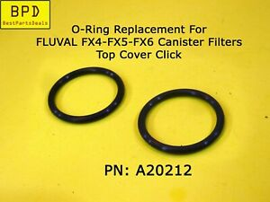 2x O-rings Replacement For FLUVAL FX4 FX5 FX6 Click Fit Top Cover A20212