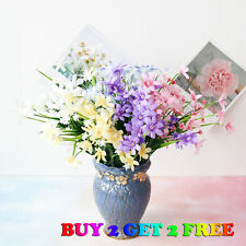28 Head Artificial Lily Bouquet Silk Fake Flowers Wedding Party Home Decoration
