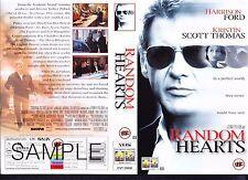 Random Hearts, Harrison Ford Video Promo Sample Sleeve/Cover #15645