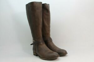 Frye Melissa Belted Women's Stone Extended Calf Boots 8.5M(ZAP7014)
