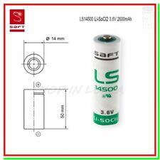 SAFT LS 14500 Batteria Pila 3,6V Li-SoCl2 STILO AA 2600mAh STD Allarmi Scanner