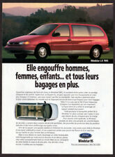 1995 FORD Windstar LX Vintage Original Print AD - Red car mini van photo canada