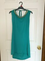 RINASCIMENTO MADE IN ITALY Women's Green Low Back Peplum dress size M