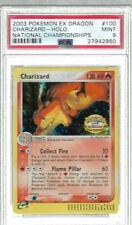 PSA 9 NATIONAL CHAMPIONSHIPS CHARIZARD 100/97 EX DRAGON SET POKEMON CARD HOLO