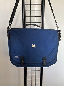 EXCELLENT Notre Dame ND Jansport School Bag Laptop Shoulder Bag Briefcase