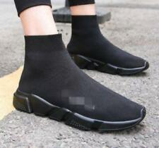 Men Running Knit Sock Black White Trainer Athletic Sneaker Shoes Ankle Boots
