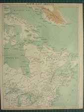 C1890 antiguo mapa ~ ~ América del Norte Oriente Baffin tierra Labrador Quebec Ontario