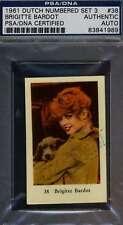 BRIGITTE BARDOT Signed PSA DNA 1961 Dutch Trading Card Autographed Authentic