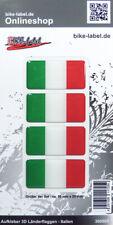 Aufkleber 3D Länder-Flaggen - Italien Italy 4 Stck. je 50 x 25 mm - 300005