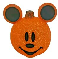 Walt Disney Halloween Lighted Mickey Mouse Orange Melted Popcorn Pumpkin 2009