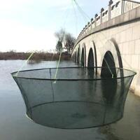 Foldable Drop Net Fishing Landing Net, Prawn Bait Crab Shrimp Pier Harbour E7D9
