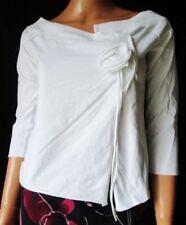 ***JENNYFER Maglia T-SHIRT TG.L in cotone 100% bianco particolare con fiore