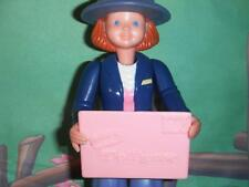 Fisher Price Loving Family Dollhouse Mail Carrier Doll Post Office Mail Lady B