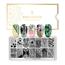 BORN PRETTY Rectangle Nail Art Stamping Plate Flowers Decor Tropical Punch-L003