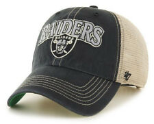 OAKLAND RAIDERS NFL SNAPBACK TRUCKER DAD CLEAN UP SLOUCH CAP HAT NWT! '47 BRAND
