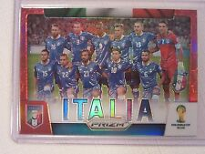 2014 Panini Prizm FIFA  World Cup Soccer Red Prizm  Team Italy  087/149