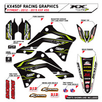 2012 2013 2014 2015 KXF 450 KAWASAKI GRAPHICS KIT MOTOCROSS SUPERCROSS DECALS