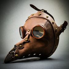 Long Nose Plague Doctor Full Face Mask Steampunk Halloween Costume Masquerade