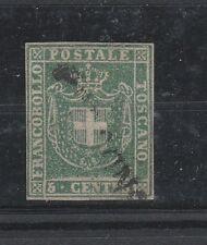 FRANCOBOLLI 1860 TOSCANA 5 C. VERDE D/6143