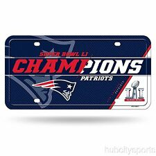 New England Patriots Super Bowl 51 Champions Aluminum License Plate NEW! Brady