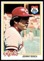 1978 Topps (Pp7) Johnny Bench Cincinnati Reds #700