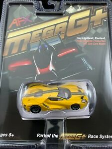 22029 AFX MEGA G PLUS FORD GT TRIPLE YELLOW TOMY AURORA HO SCALE