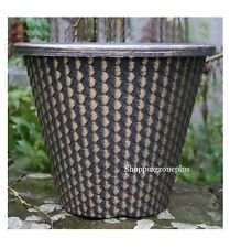 SET OF 2 X LARGE PINECONE PLANTER POTS INDOOR OUTDOOR GARDEN PATIO FLOWER HERB