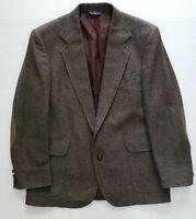 Pendleton Mens Tweed Elbow Pads Sport coat Blazer Jacket 2 Roll 1 42R Wool