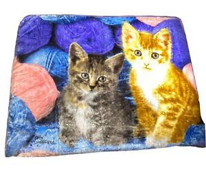 Northwest Plush Throw Blanket Kitten Cat Greg Cuddiford 2 Kitty Cats 50 x 60