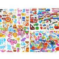 5 Sheets Cute Cartoon Scrapbooking Bubble Puffy Stickers Reward Kids Gift Toy RS