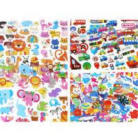 5 Sheets Cute Cartoon Scrapbooking Bubble Puffy Stickers Reward Kids Gift Toy UQ