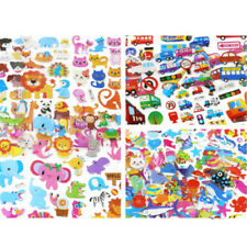 5 Sheets Cute Cartoon Scrapbooking Bubble Puffy Stickers Reward Kids Gift ToysPR