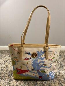 Spartina Bag 449 Greetings From Bay Dreams Maryland Delaware Va Large Tote Purse
