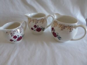 Vintage Set of 3 Jugs -  Lord Nelson Pottery England Design 3320