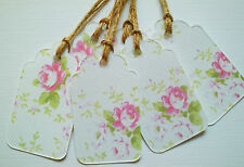 20 Blank Pink Floral Gift Tags Labels Vintage Style, Gifts,Bottles & Boxes