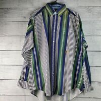 Vintage 90's Men's Tommy Hilfiger Striped Button Down Long Sleeve Shirt Sz L EUC