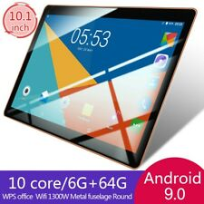10.1 Pouces Tablette Tactile WiFi HD Tablet 6GB +64GB PC Android 9.0 Doule SIM