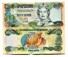 BAHAMAS 50 CENTS 1/2 DOLLAR 2001 P 68 UNC