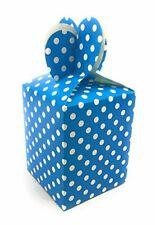 AEX 6x Azul partido Lunares Bolsa Almuerzo Pastel Cajas De Regalo
