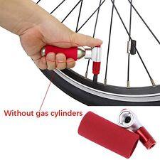 Portable Bike Bicycle Tire Air CO2 Inflator Pump Valve Head Presta / Schrader