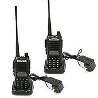 2 x Baofeng UV-82 V/UHF 136-174/400-520 MHz Ham Two-way Radio Walkie Talkie