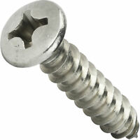 #8 Self Tapping Sheet Metal Screws Phillips Oval Head Stainless Steel All Sizes