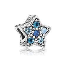 Genuine Sterling Silver PANDORA Bright Star Blue Charm 796379NSBMX S925 ALE