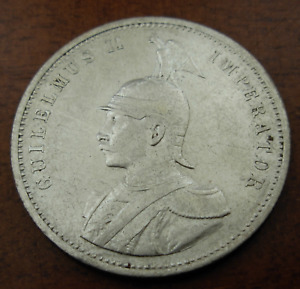 German East Africa 1906 A Silver 1 Rupie Circulated