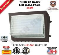 135 Watt Dusk to Dawn Photocell ETL DLC LED Wall Pack For Outdoor Commercial Use