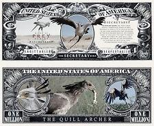 Secretary Bird of Prey Million Dollar Bill Collectible Funny Money Novelty Note