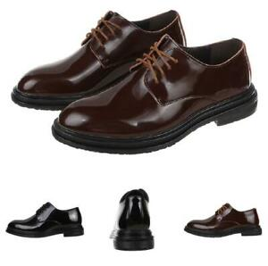 Formal Mens Low Top Patent Leather Oxfords Shoes Business Pointy Toes Flats