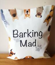 CANVAS SHOPPER BAG BARKING MAD DOG DESIGN Eco Reusable Unique Funny Animal Style