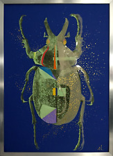 ORIGINAL Art: INCA BEETLE / SPACE by Alex Nizovsky / Collage and Acrylic